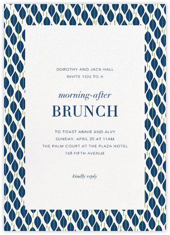 Mille Feuille - Dark Blue - Paperless Post - Wedding brunch invitations