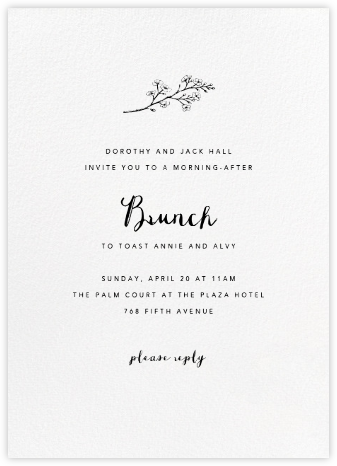 White (Tall) - Paperless Post - Brunch invitations