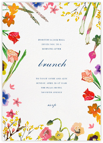 Spring Market - Happy Menocal - Brunch invitations