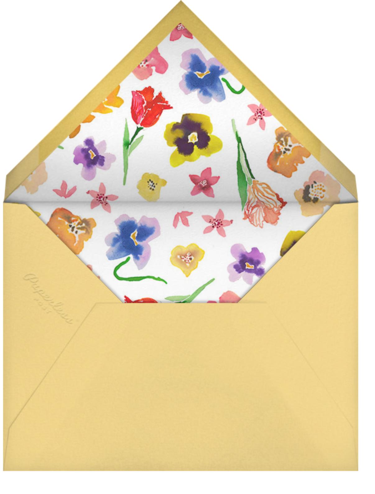 Spring Market (Invitation) - Happy Menocal - Rehearsal dinner - envelope back