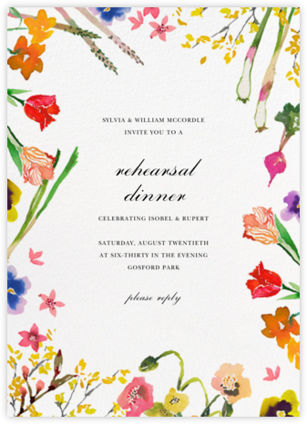 Spring Market (Invitation) - Happy Menocal - Wedding Weekend Invitations