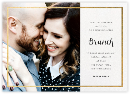 Idylle (Photo) - White/Gold - Paperless Post - Wedding Weekend Invitations