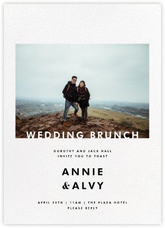 Horizontal Photo on Tall - Paperless Post - Wedding brunch invitations