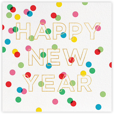 New Year Baronial (Greeting) - kate spade new york - New Year Cards