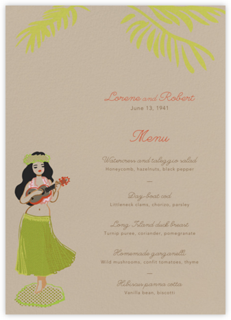 Hula Doll (Menu) - Paperless Post - Wedding menus and programs - available in paper