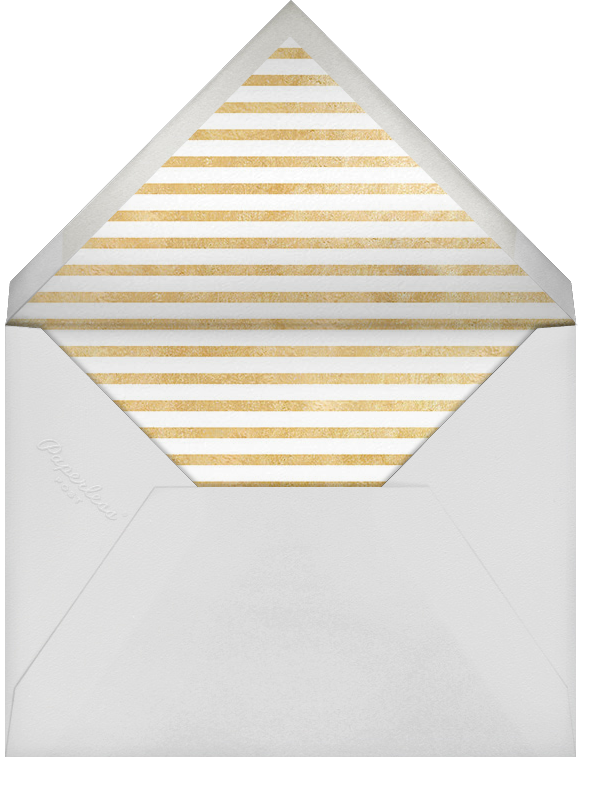 Champagne Bubbles - Silver - Paperless Post - Engagement party - envelope back