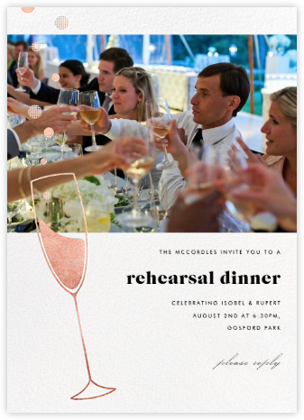 Champagne Bubbles (Photo) - Rose Gold - Paperless Post - Wedding weekend