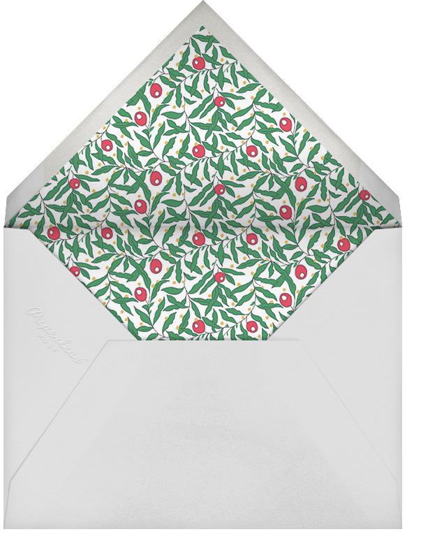 Juniper Berry - Liberty - Christmas party - envelope back