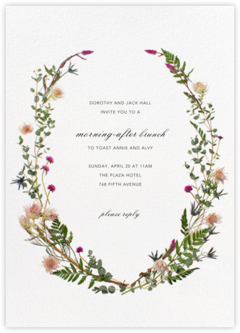 Fleurs Sauvages - Paperless Post - Brunch invitations