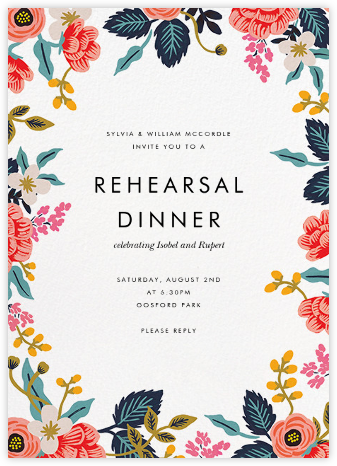 Birch Monarch Suite (Invitation) - White - Rifle Paper Co. - Wedding weekend