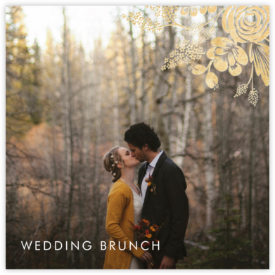 Heather and Lace (Photo) - Gold - Rifle Paper Co. - Wedding brunch invitations