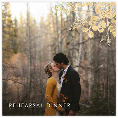 Heather and Lace (Photo) - Gold - Rifle Paper Co. - Wedding weekend