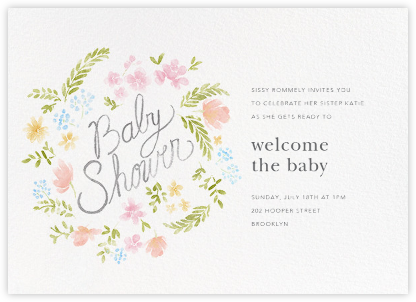 Baby Bloom - Paperless Post - Baby shower invitations