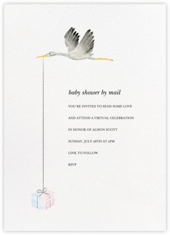 Feather Express - Paperless Post - Online Baby Shower Invitations