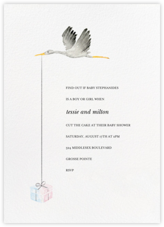 Feather Express - Paperless Post - Baby Shower Invitations