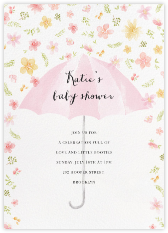 Flower Shower - Pink - Paperless Post - Celebration invitations
