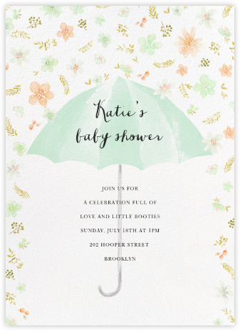 Flower Shower - Mint - Paperless Post - Baby Shower Invitations