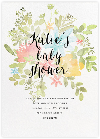 Pressed Blossoms - Multi - Paperless Post - Online Baby Shower Invitations