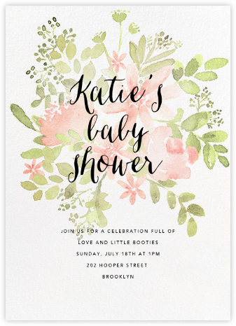 Pressed Blossoms - Pink - Paperless Post - Celebration invitations