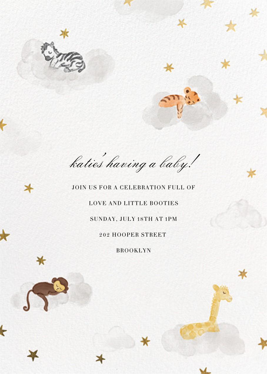 Starry Slumber (Invitation) - Gold - Paperless Post - Celebration invitations
