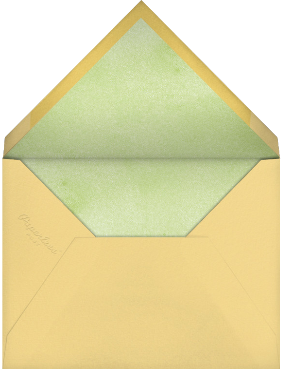 Trunk Show - Paperless Post - Baby shower - envelope back