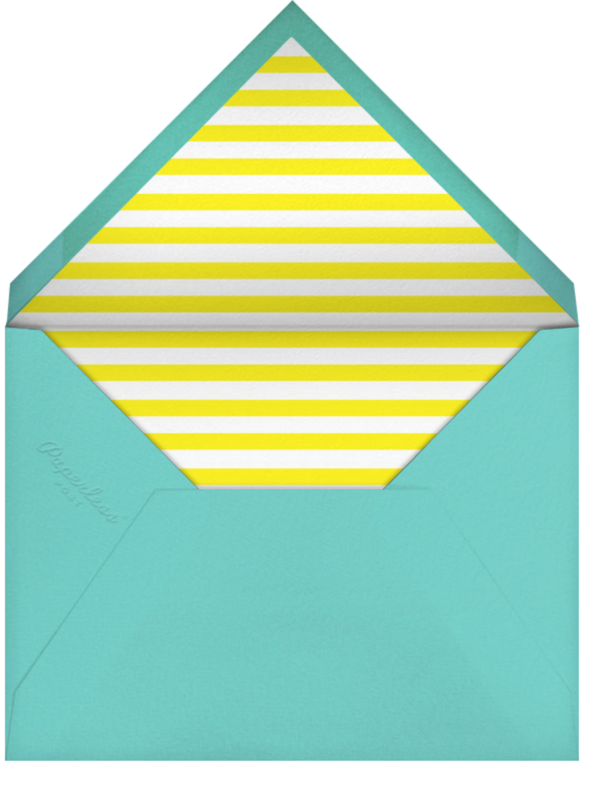Evergreen Stripes - Yellow/White - kate spade new york - Summer parties - envelope back
