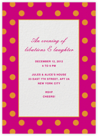 Patch Dots - Pink/Orange - kate spade new york - Kate Spade invitations, save the dates, and cards