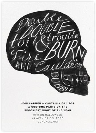 Double Double - Paperless Post - Halloween invitations