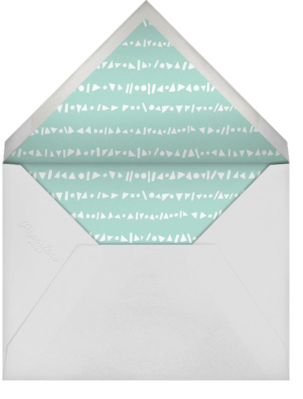 Shower Shapes - Mint/Gold - Paperless Post - Baby shower - envelope back