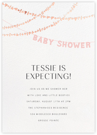 Shower Shapes - Pavlova/Rose Gold - Paperless Post - Baby Shower Invitations