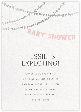 Shower Shapes - Pavlova/Silver - Paperless Post - Baby Shower Invitations