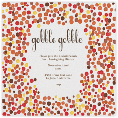 Gobble Gobble - Brights - Mr. Boddington's Studio - Thanksgiving invitations