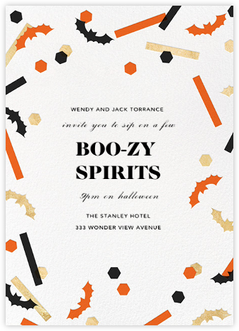 Frightful 'Fetti - Paperless Post - Halloween invitations