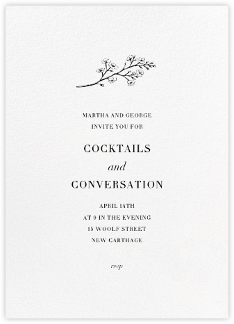 Blanc (Tall) - Paperless Post - Invitations