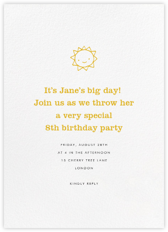 White (Tall) - Paperless Post - Kids' birthday invitations