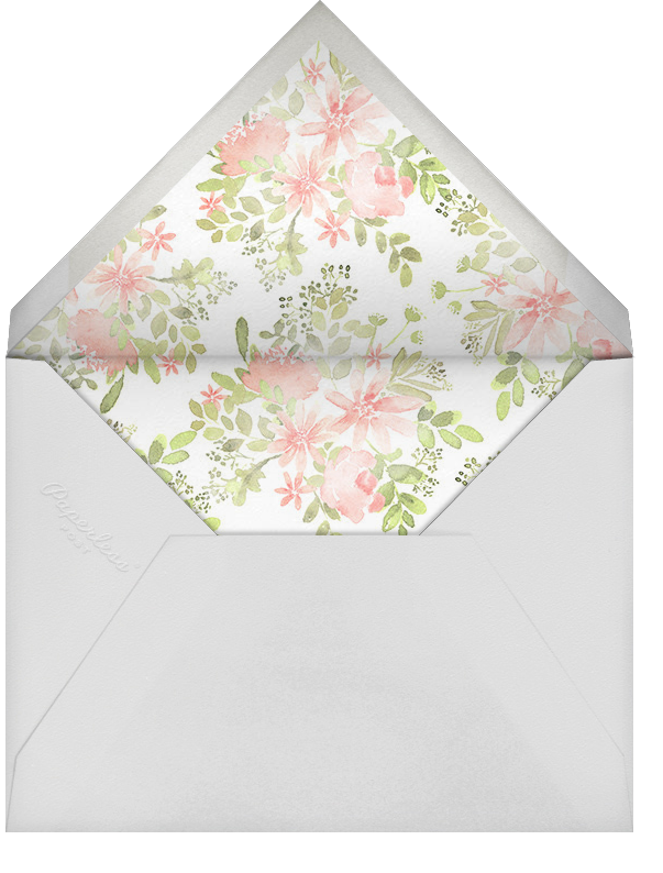 Pressed Blossoms - Pink - Paperless Post - Wedding brunch - envelope back