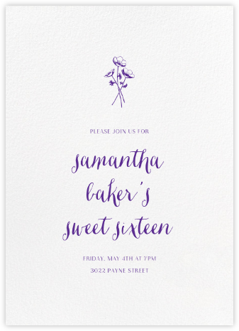 White (Tall) - Paperless Post - Sweet 16 invitations