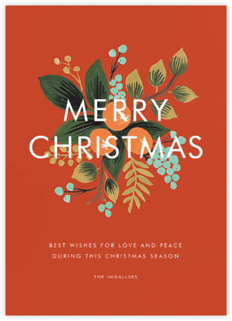 Orange Cluster (Christmas Greeting) - Rifle Paper Co. - Christmas Cards
