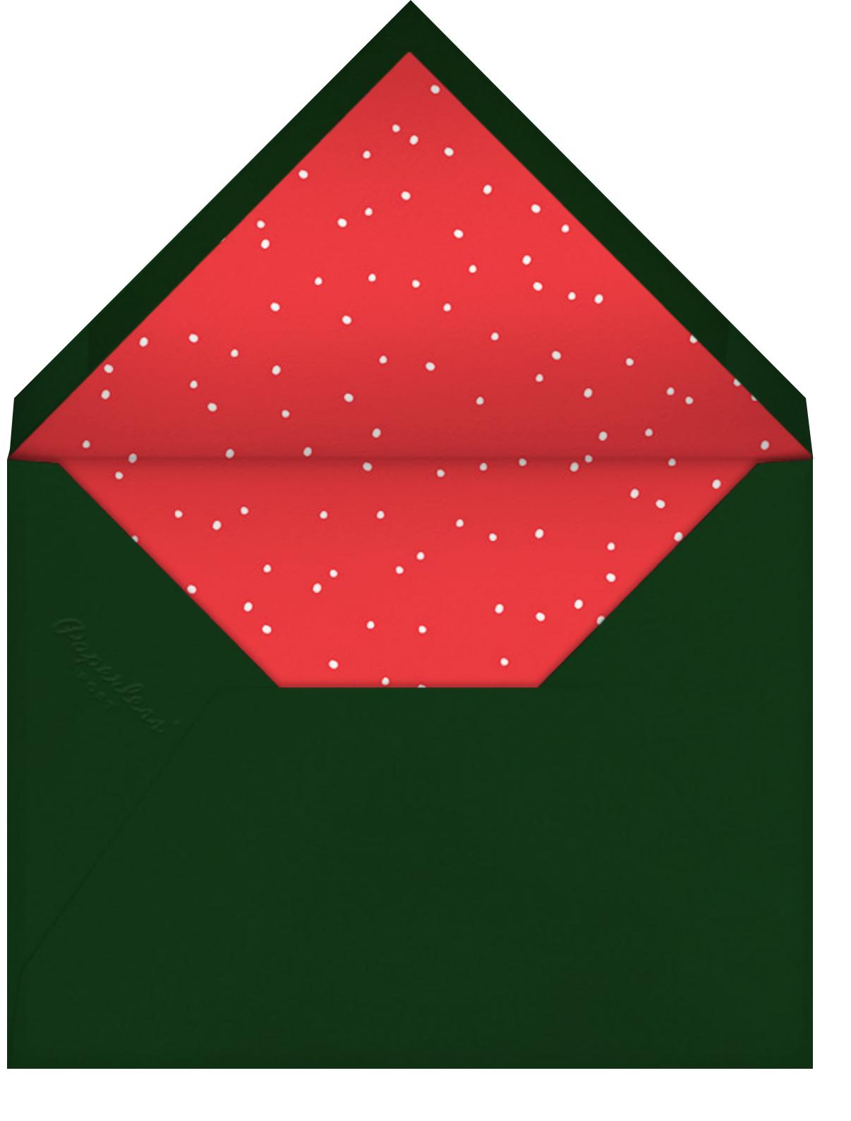 Forest Eve (Christmas Landscape) - Green - Linda and Harriett - Linda & Harriett holiday - envelope back