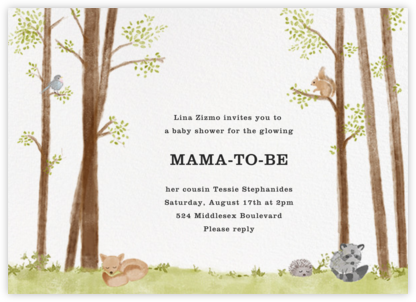 Nature's Nursery - Paperless Post - Woodland Baby Shower Invitations