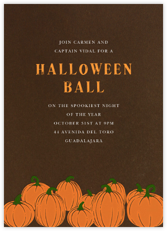 Pumpkins - Paperless Post - Halloween invitations