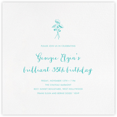White (Square) - Paperless Post - Adult Birthday Invitations