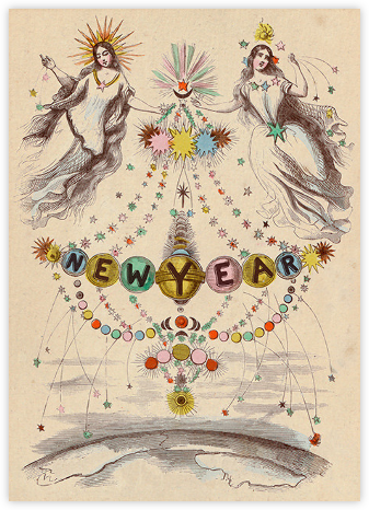 Angel Newyear - John Derian - New Year's Eve Invitations