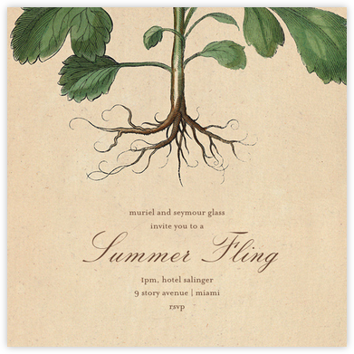 Roots - John Derian - Summer entertaining invitations