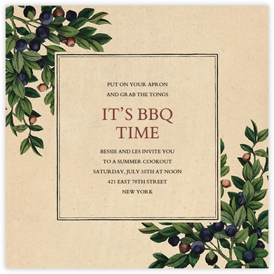 Blueberries - John Derian - Summer Party Invitations
