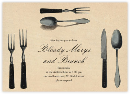 Silverware - John Derian - Brunch invitations