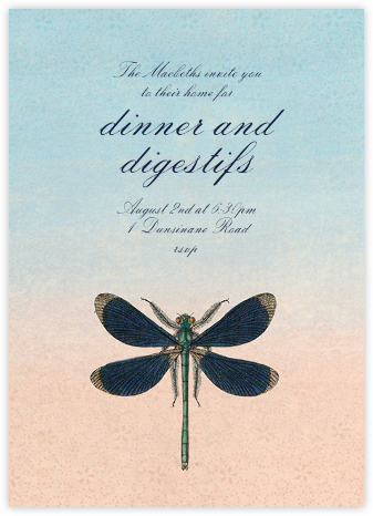 Dragonfly - John Derian - Dinner Party Invitations