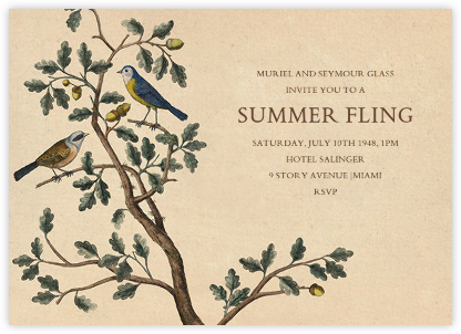Mountain Chickadee - John Derian - Summer Party Invitations