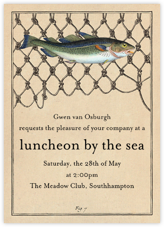 Cod Fish Net - John Derian - Summer entertaining invitations
