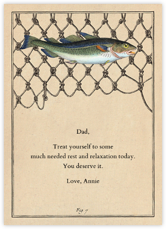 Cod Fish Net - John Derian - Father's Day Cards